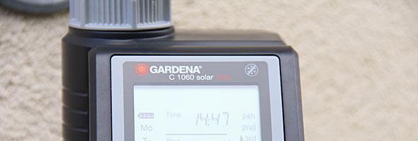 Automatische Bewässerung mit den Gardena C 1060 solar plus