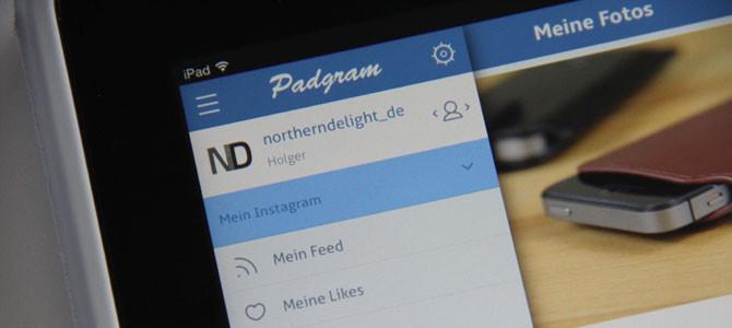 Verlosung – Instagram für das iPad mit Padgram Pro
