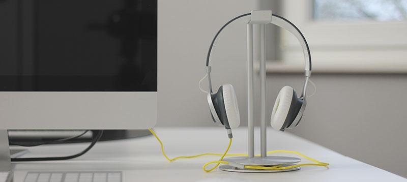 Just Mobile HeadStand – der perfekte Ort für deinen Kopfhörer