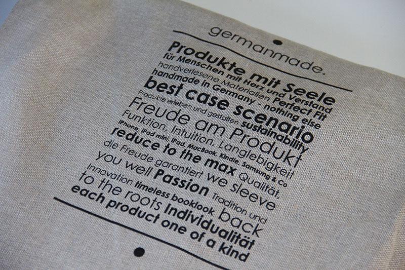 So wird die MacBook Tasche geliefert