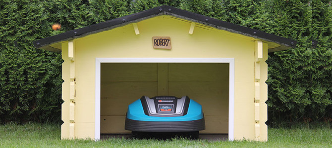 Garage für Mähroboter selber bauen