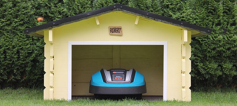 Garage für Mähroboter