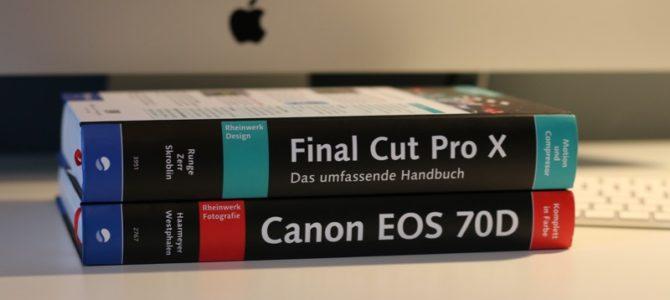 Perfekte Handbücher für Final Cut Pro X und Canon EOS 70D