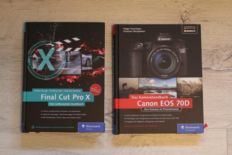 Rheinwerk Final Cut Pro X und Canon EOS 70D Handbücher
