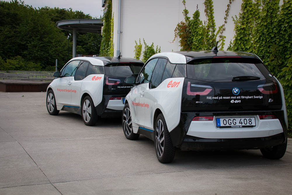 E.ON Elektromobil Flotte in Hyllie
