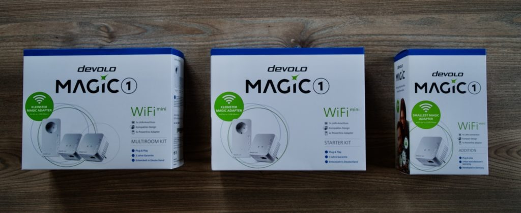 Die Prodzktpalette von devolo Magic 1 WiFi mini