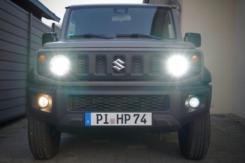 Suzuki Jimny Unterschied Halogen und LED Nebelleuchten