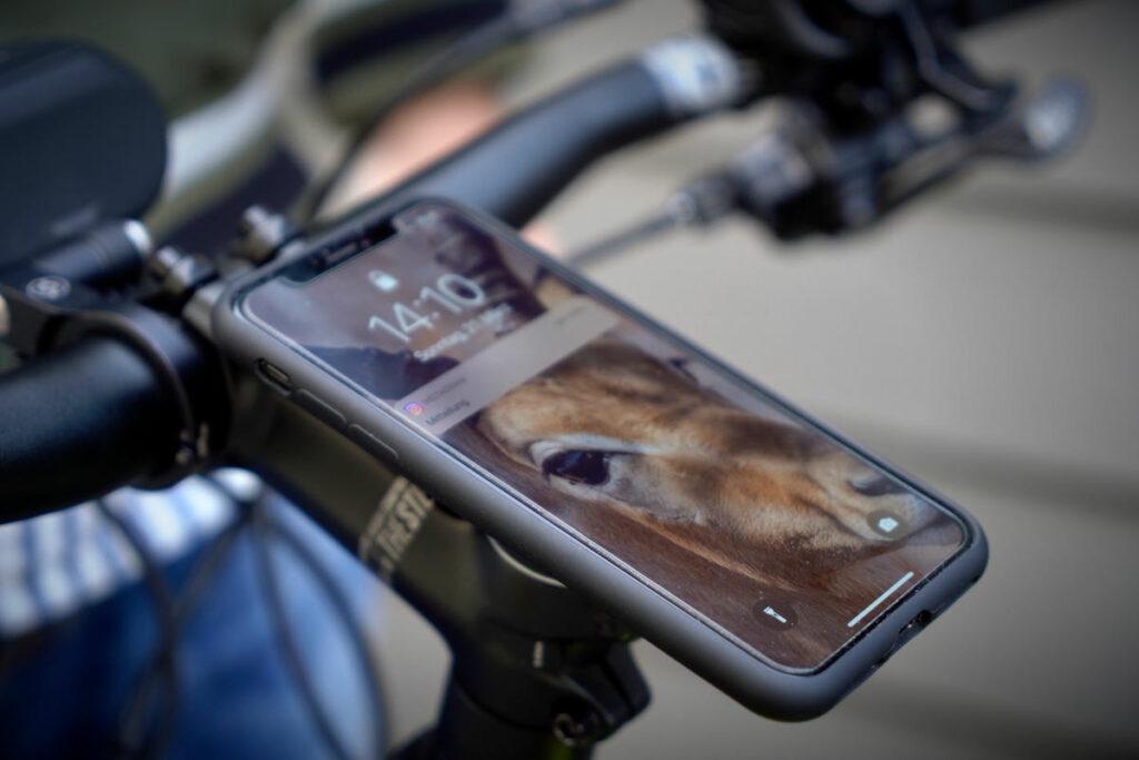 SP-Connect Smartphone-Halterung am Lenkervorbau